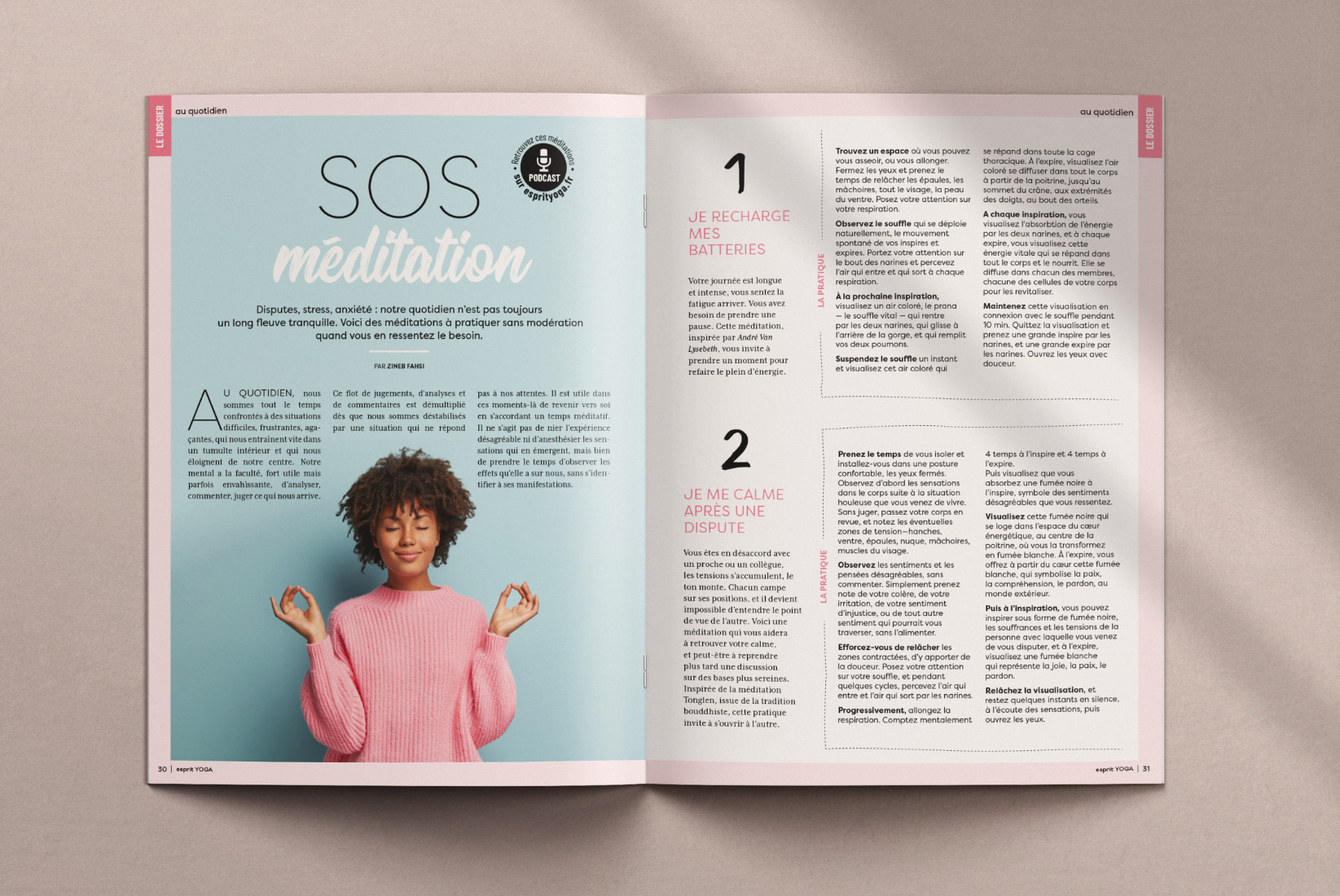 magazine esprit yoga - joëlle ducouret
